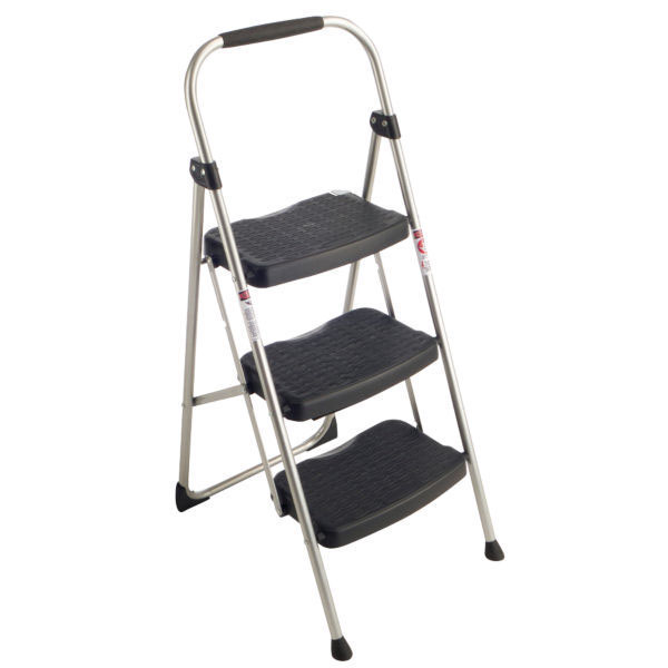 Werner 223-6 StepRight 225 Pound Duty Rating Type II 3 Step Stool Steel 3-foot