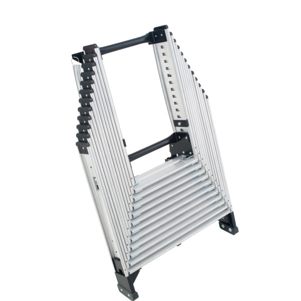 Werner AA10 250-Pound Duty Rating Televator Aluminum Universal Telescoping Attic Ladder 10-Foot