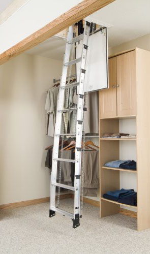 Werner Ladders   AA Series Telescoping Attic Ladder Thumbnail ...