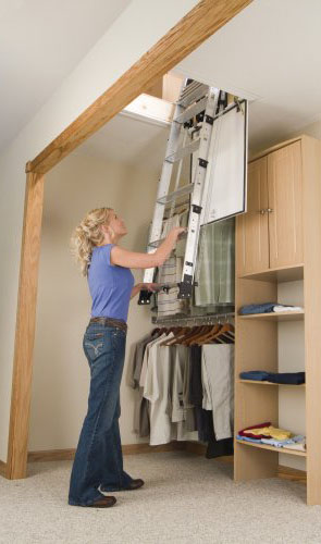 ... Werner Ladders   AA Series Telescoping Attic Ladder Thumbnail ...