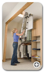 Werner Ladders - AA Series Telescoping Attic Ladder Thumbnail