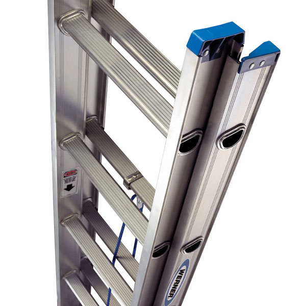 Werner D1216-2 225-Pound Duty Rating Aluminum Flat D-Rung Extension Ladder 16-Foot