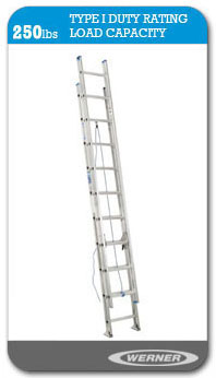 Werner Ladders - D1300-2 	Type I Flat D-Rung Extension Ladder