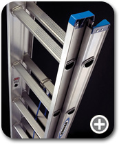 Werner Ladders - D1228-2 Aluminum Flat D-Rung Extension Ladder