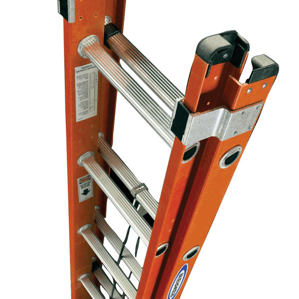Werner D6220-2 300-Pound Duty Rating Fiberglass Flat D-Rung Extension Ladder 20-Foot