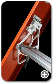 Werner Ladders D Series Fiberglass Flat D-Rung Extension Ladder