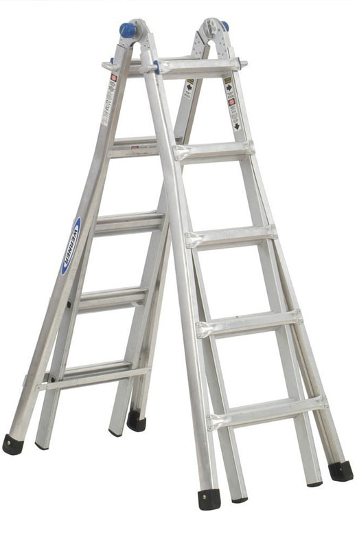 Adjustable Scaffolding For Stairs : Werner mt pound duty rating telescoping multi