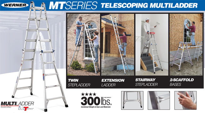 Werner MT-Series Telescoping Multi-Ladder